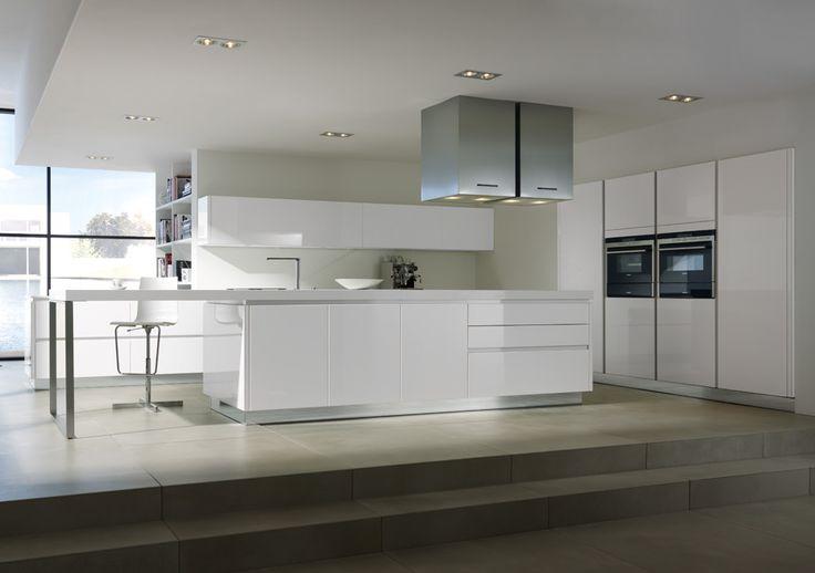 Moderne Küche in Hochglanz weiss Home Küche \/ Kitchen - hochglanz weiss modernen apartment