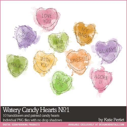 Watery Candy Hearts No. 01