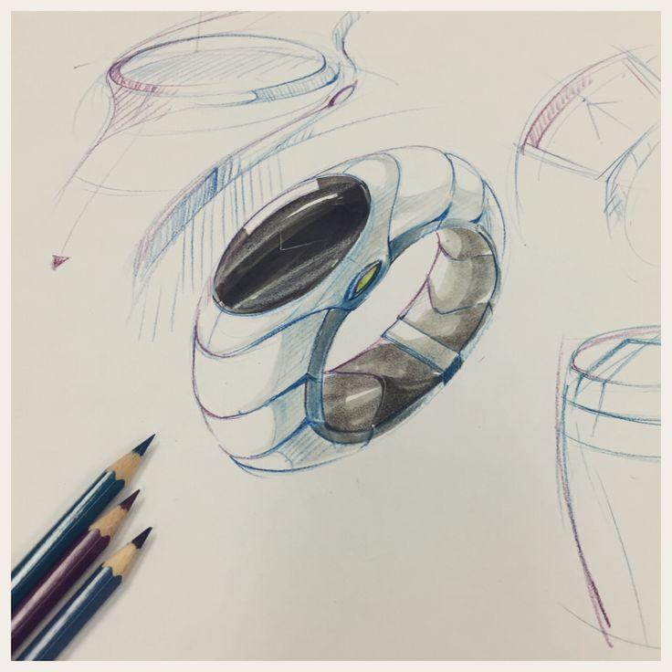Watch concept sketch