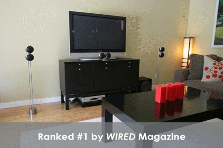 OrbAudio speaker was ranked #1 by Wired Magazine. | Speakers in living room | Small speakers for apartments |