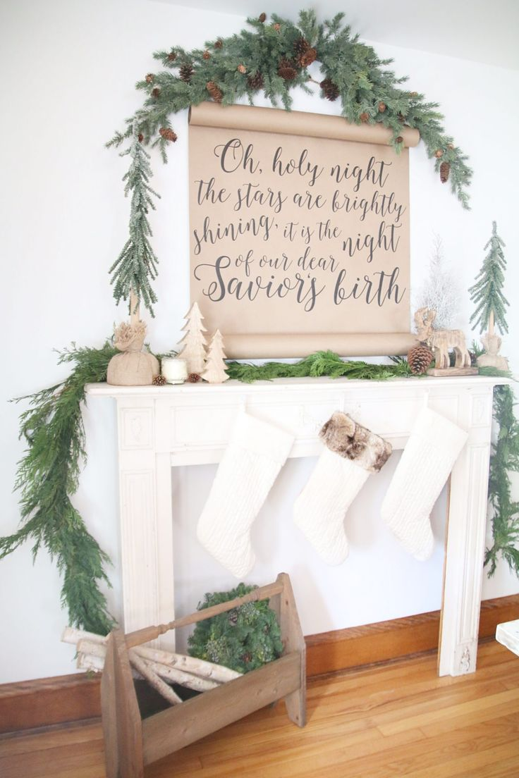 I'm so happy to be able to share my Rustic Christmas mantle with you