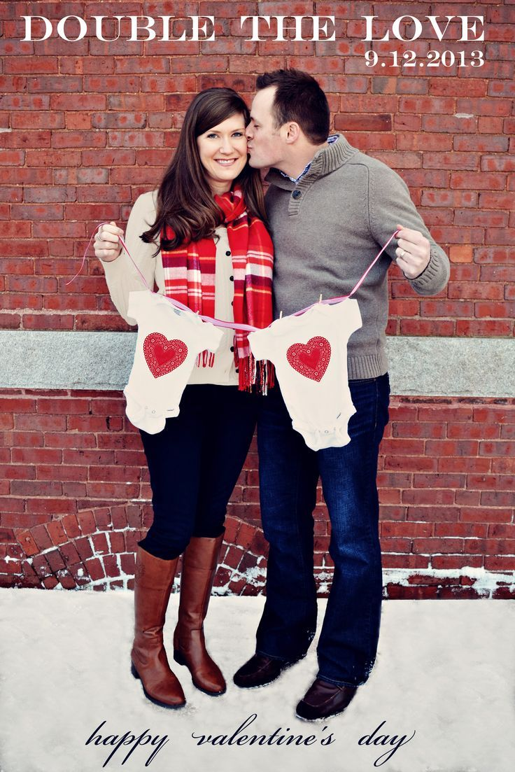 Clever Ways to Announce Twins | ... you go EJ! :) Valentine's Day twin pregnancy announcement :) #twins