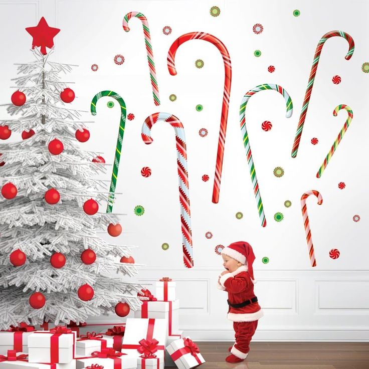 Christmas Wall Decorations To Make: 22 Best Holiday Wall Decals Images On Pinterest