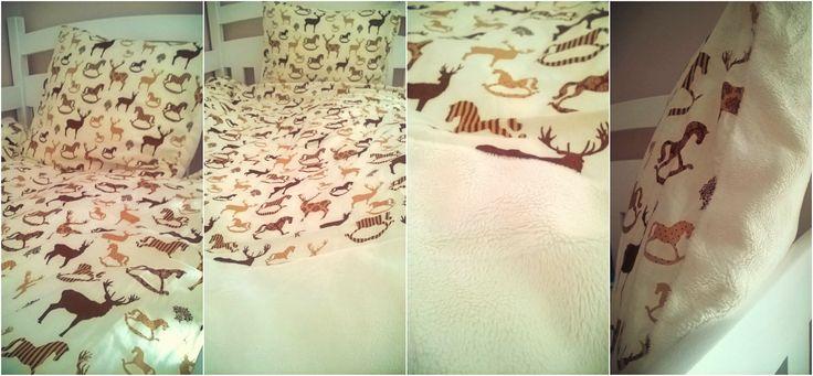 ciepła pościel z polarem Minky i bawełną - dla miłośniczki koni <3