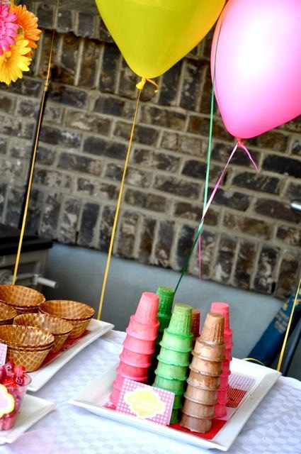 Ice Cream Swim Birthday Party - Kara's Party Ideas - The Place for All Things Party