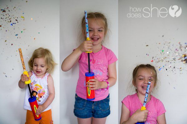 How to Make Confetti Fire Crackers With Your Kids