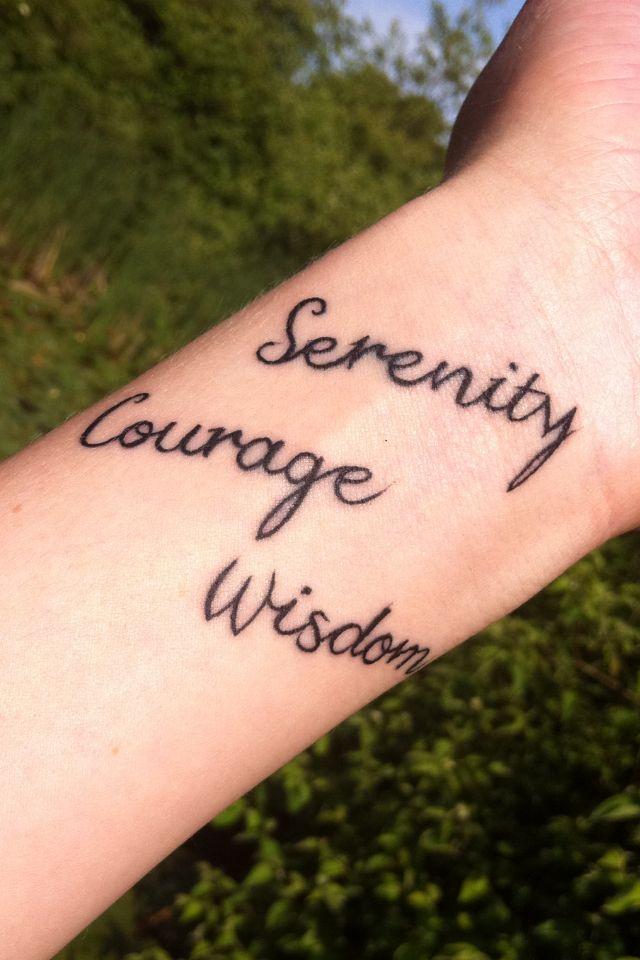 Serenity courage wisdom tattoo | Tattoos | Pinterest