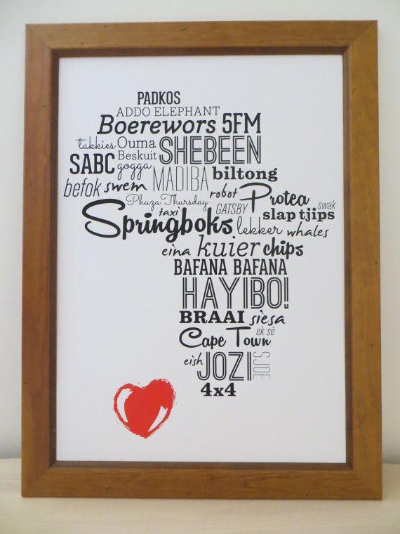 I love Africa A3 print https://www.etsy.com/listing/198071018/i-love-africa-a3-print