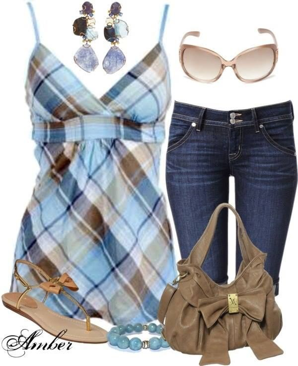 Jean Capris Outfits | Uploaded to Pinterest