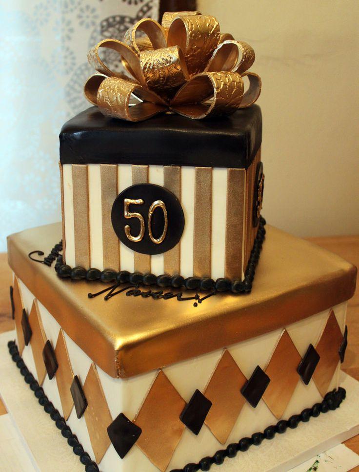 Gold Black Men 30th Birthday Cake Decorations