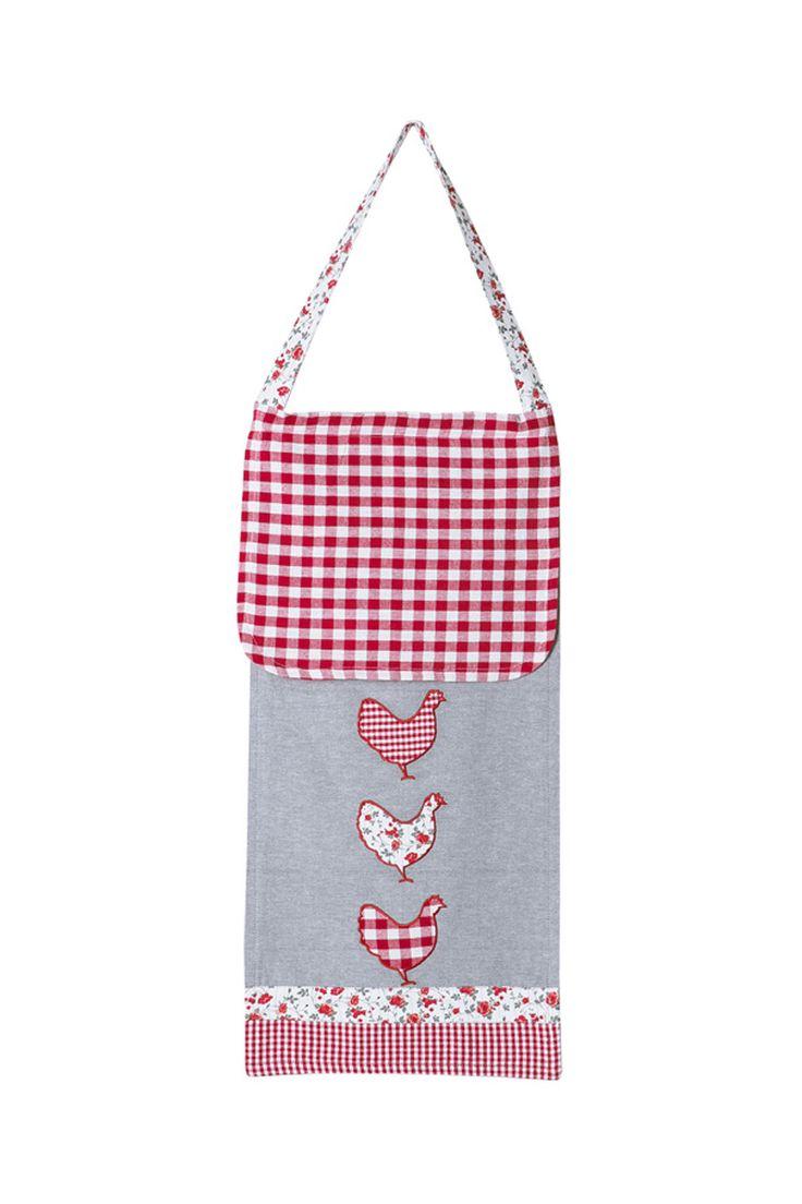 Venta La Boutique de Noémie / 28846 / Tonos rojos y grises / Bolsa para pan Suzanne Rojo y gris claro
