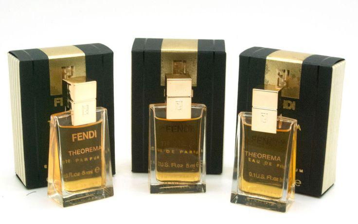 Theorema by Fendi 0.1 fl oz Eau De Parfum Mini Splash for women (Package of 3) #Fendi