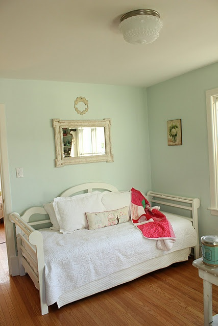 Paint Martha Stewart Araucana Blue From Lowes Picture Jen From Cottage Nest Bedbuggy