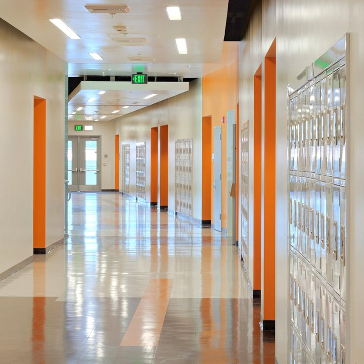 high school interior design corridor Google Search