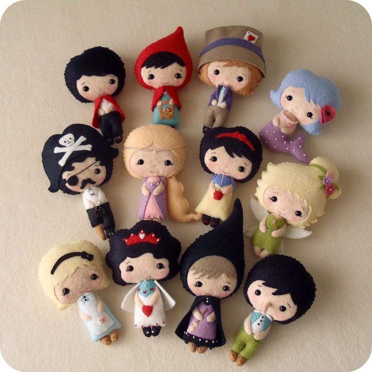 # DIY Сказка Куклы PDF моделей По gingermelon