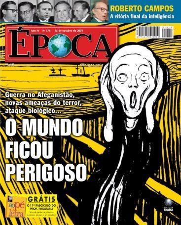 Capa da revista época com a releitura da obra O grito