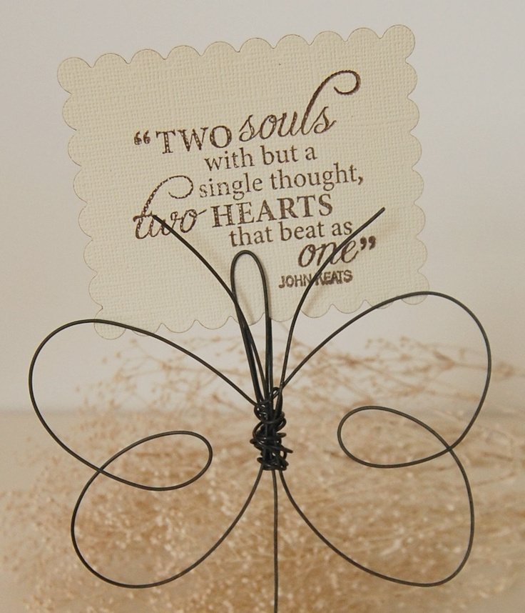 Butterfly Photo Holders - Mother's Day - Wire Butterflies - Hostess Gifts - Baby Shower - Shabby Chic Girl's Room. 8.95, via Etsy.