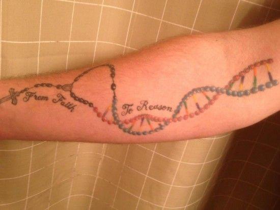 Rosary Tattoo On Arm