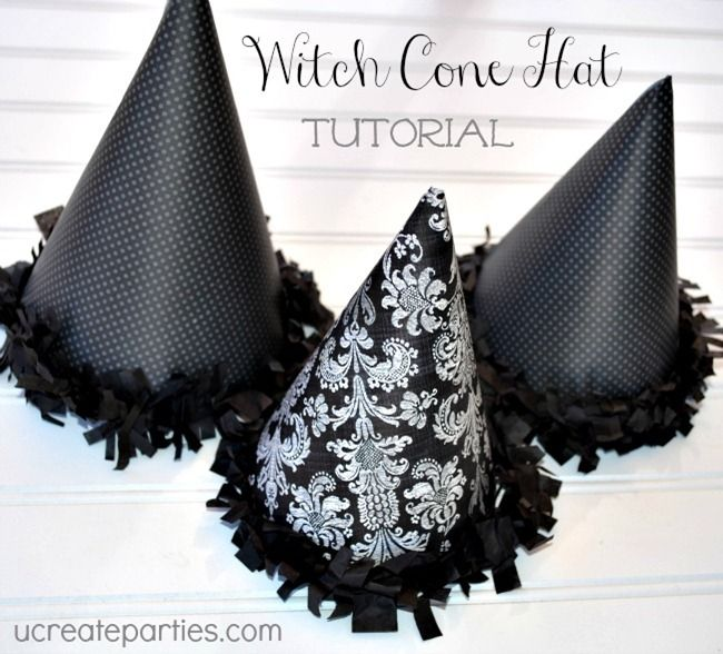 Witch Cone Hat Tutorial with Free Template!