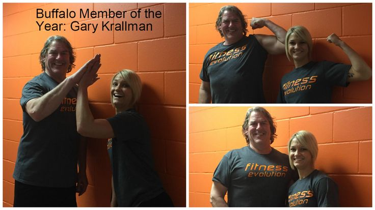 CONGRATULATIONS to BUFFALO MEMBER OF THE YEAR! Gary Krallman Not only did Gary have 340 workouts in 2016, but he makes our day every time he comes in the door. From shoveling our sidewalks to entertaining us with his dancing, Gary never fails to make us smile! To top it all off -- TODAY IS GARY'S BIRTHDAY! Happy birthday, Gary and thanks for being such an awesome member! Congratulations! #greatmembers #fitevorocks