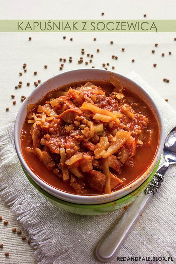 Lekko pikantny kapuśniak z soczewicą / Spicy cabbage lentil soup
