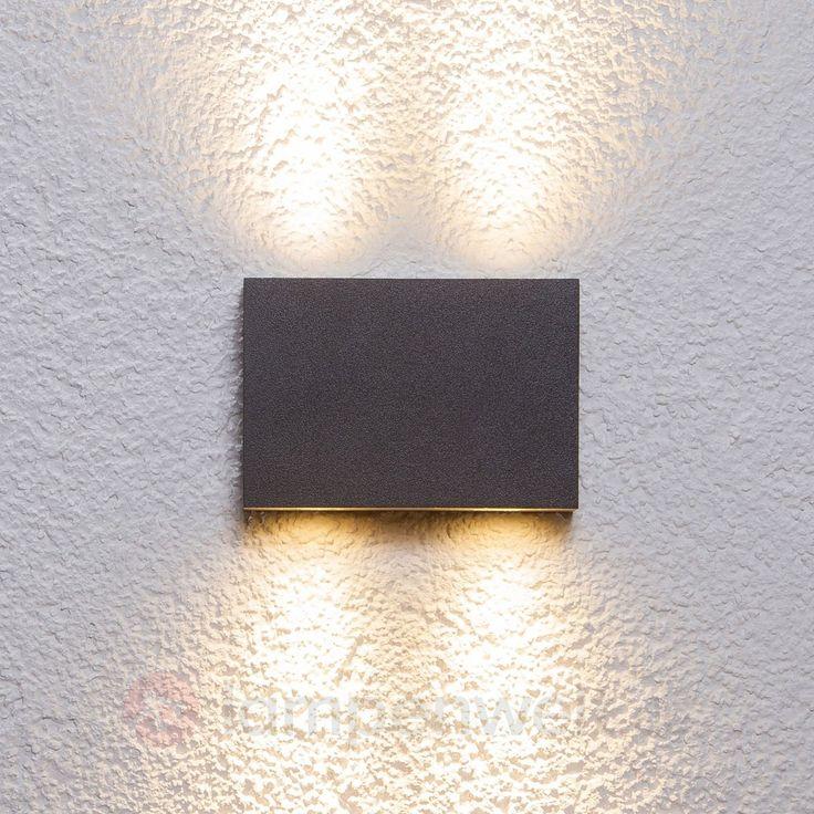 Eckige Außenwandleuchte Henor mit 4 LEDs sicher & bequem online bestellen bei Lampenwelt.de.