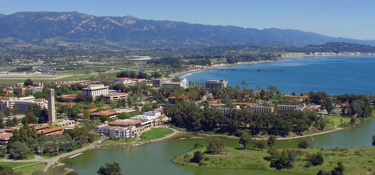 UC Santa Barbara - how beautiful is this? Great location for a college but how do they get any studying done?
