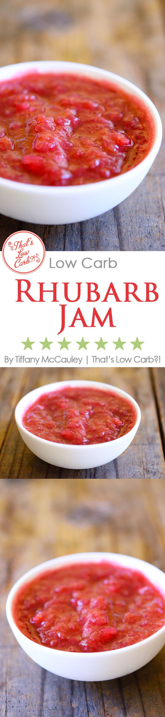 Low Carb Recipes | Rhubarb Compote | Low Carb Compote ~ https://www.thatslowcarb.com