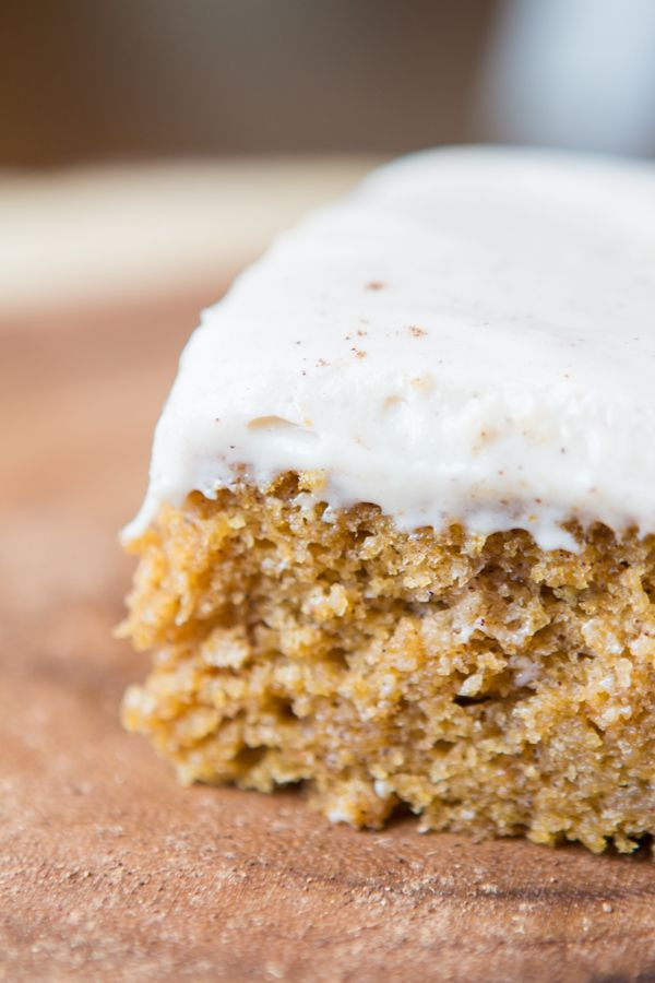 Pumpkin Cake with Cinnamon White Chocolate Cream Cheese Frosting. Did ...