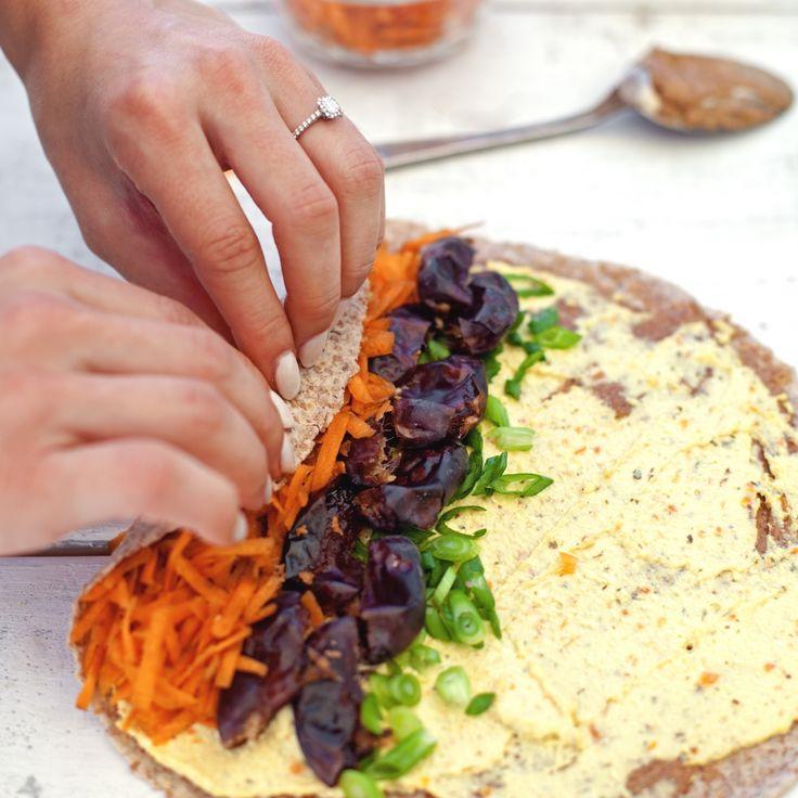 Sandwich roulé végétarien - Recette | Trois fois par jour
