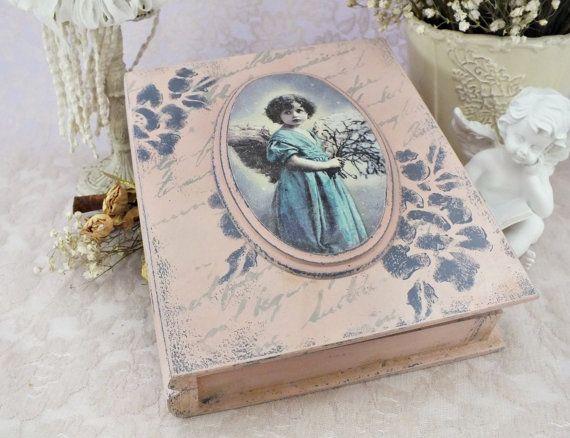 Madera caja madera caja caja secreta por VintageLullabyDesign