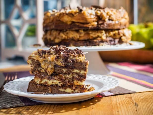 Geman Chocolate French Toast Cake Recipe from Food Network