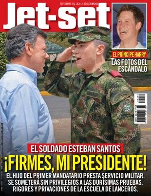 El soldado Esteban Santos ¡Firmes, mi presidente!