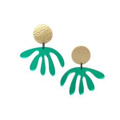 Green Mirror Matisse Drop Earrings
