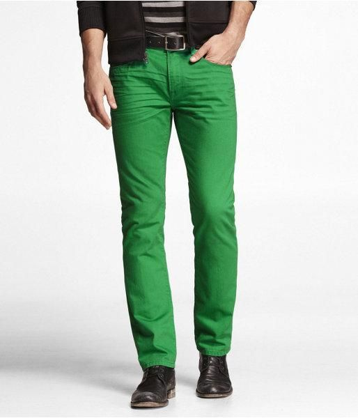 JULEP GREEN. Brighten your days and nights with a chromatic update on our flattering Rocco Skinny. Paired with a complementary tee and cotton jacket, this vividly hued jean will make a... More Details