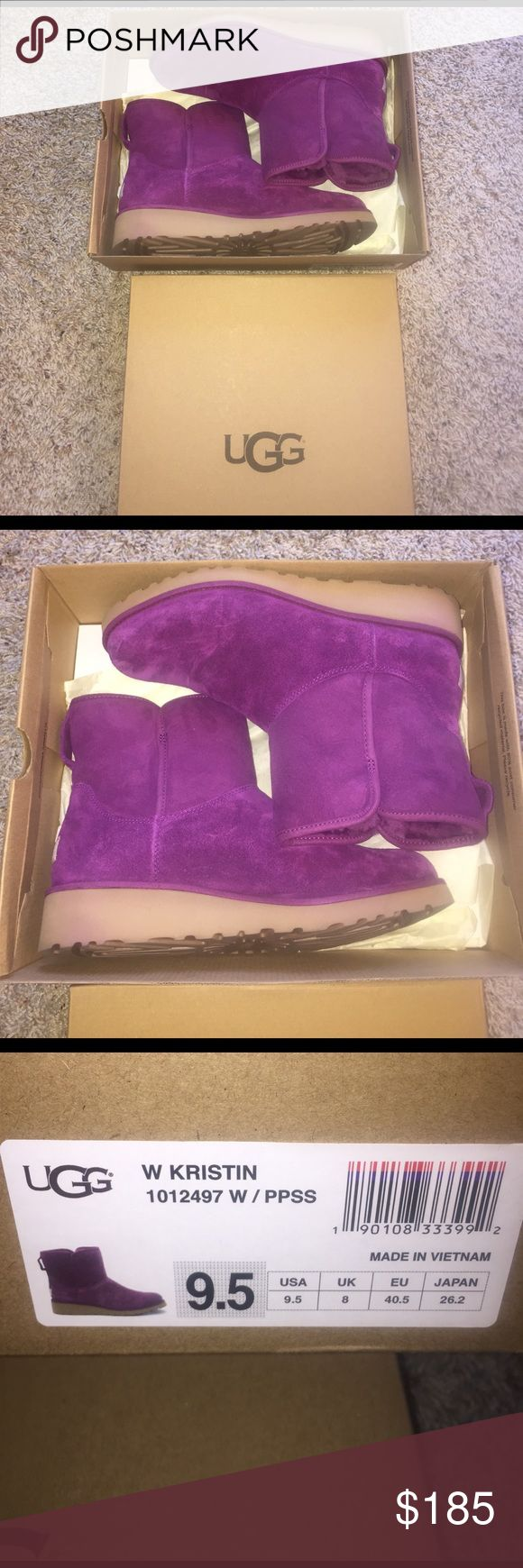 Purple Uggs worn 1x Purple Uggs worn 1x - excellent condition. Christmas gift but I need a bigger size unfortunately my brother can't find the receipt for me to exchange. Love them but they have to find a new home 💜💜💜💜💜💜 UGG Shoes Ankle Boots & Booties