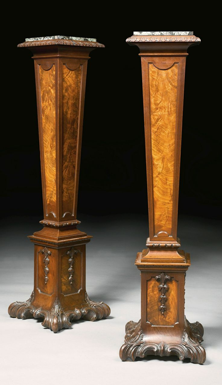 Marble top Pedestals by Thomas Chippendale & Son