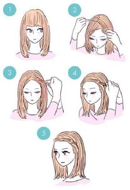 Schnelle Frisuren in fünf Minuten 2018-2019: ein Foto von der Idee einer einfachen Frisur