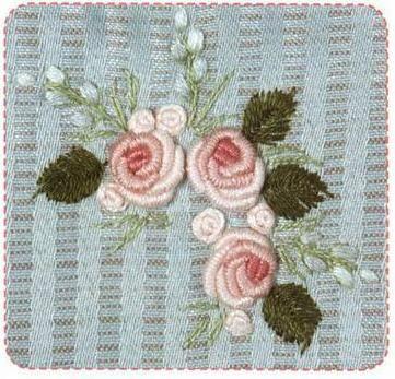 Вышивка рококо цветов