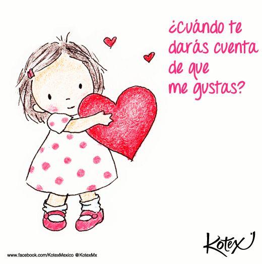 ¿Cuándo te darás cuenta de que me gustas?   #LOVE #Amor #Quotes #Frases
