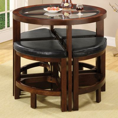 Jinie 5 Piece Counter Height Pub Table Set  Counter Height Pub Interesting Dining Room Pub Table Sets Design Inspiration
