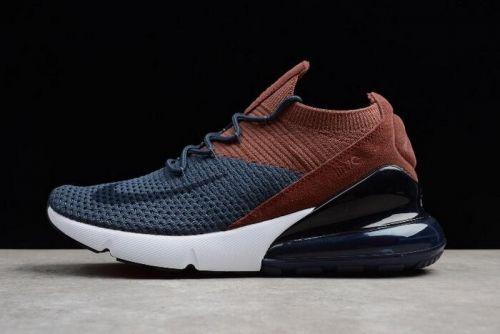 d9c9a38e40155 Best Quality Nike Air Max 270 Flyknit Dark Blue Brown Black White Mens and  Womens Size AO1023-004 For Sale - ishoesdesign