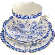 Antique Wileman English teacup trio, Margarette patt 3870 on Lily shape, 1888