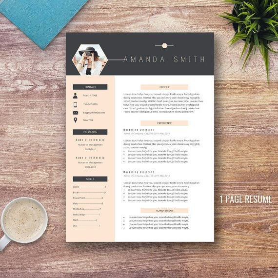 Creative Resume Template for Word (1 and 2 Page Resumes), Cover Letter, Teacher Resume, Modern and Professional Resume, CV, Instant Download