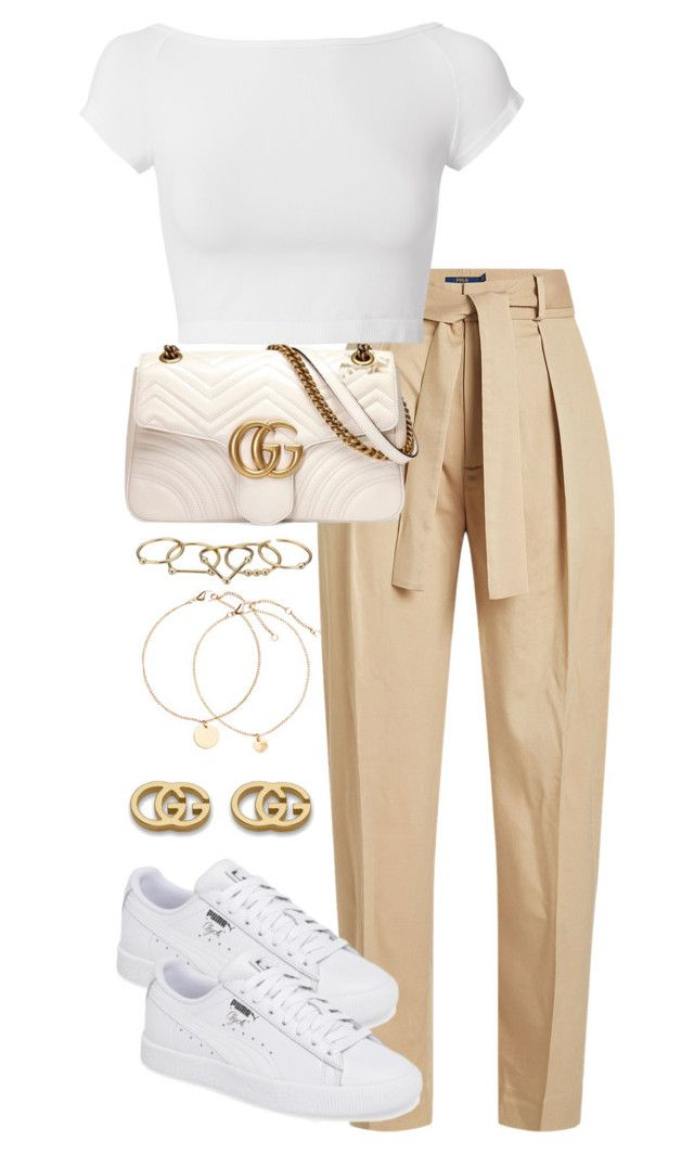 Untitled #4444 by theeuropeancloset on Polyvore featuring polyvore fashion style Helmut Lang Polo Ralph Lauren Gucci Zimmermann clothing
