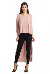 Plus size women blouses for wedding and christening pink roz asimmetri makria blouza