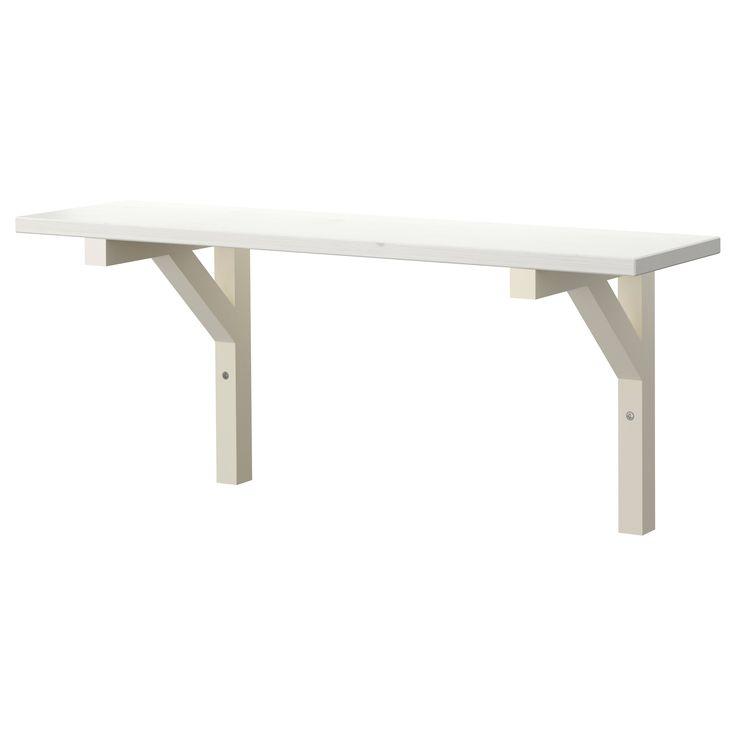 EKBY HEMNES/EKBY STILIG Wall shelf IKEA $22.99 Width: 31 1/8  Depth: 7 1/2  Height: 9 7/8  Max load/shelf: 22 lb