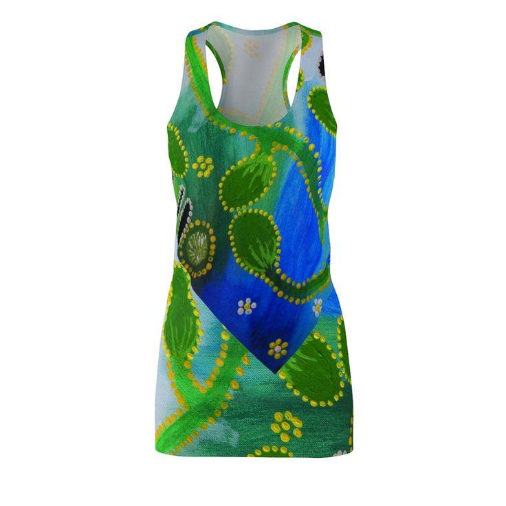 Blue Alunga EMK Woman's Cut & Sew Racerback Dress