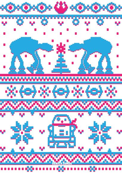Star Wars Christmas Sweater! Someone please make this for me.