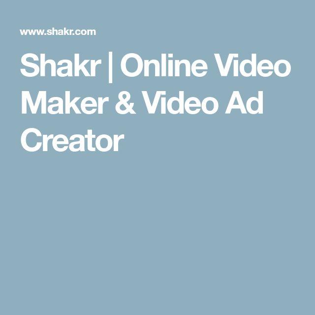 Shakr   Online Video Maker & Video Ad Creator